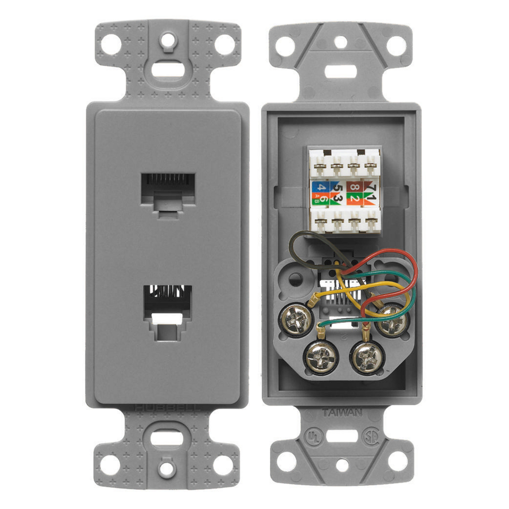 HWDK NS784GY PLATE, FRAME,W/CAT5E/J