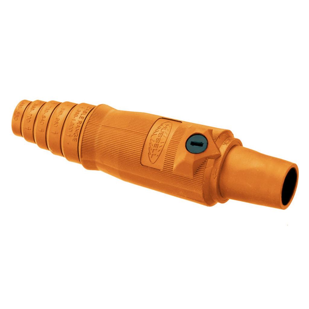 Hubbell Wiring Devices HBL400FO 400 Amp 600 VAC 250 VDC 1-Pole Orange Female Plug
