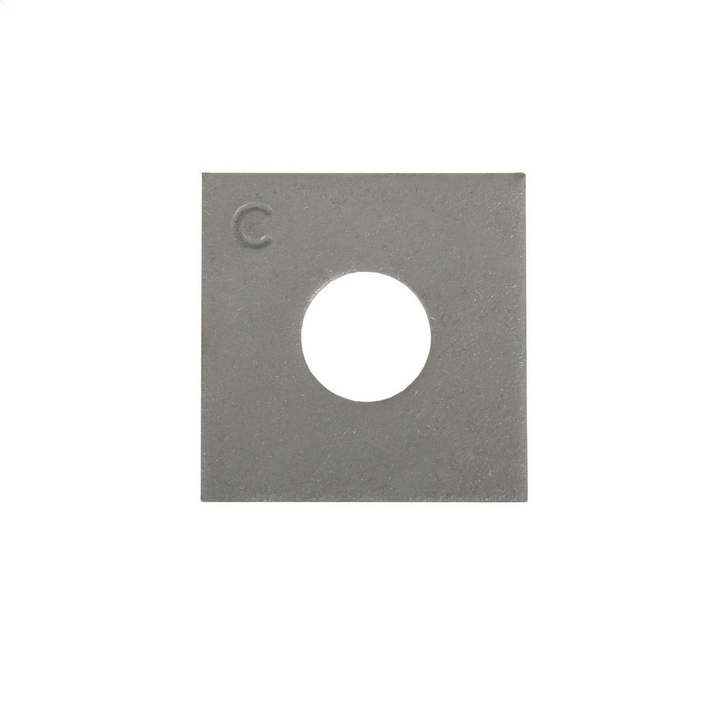 Hubbell Power 6813 5/8 Inch Galvanized Steel Flat Square Washer