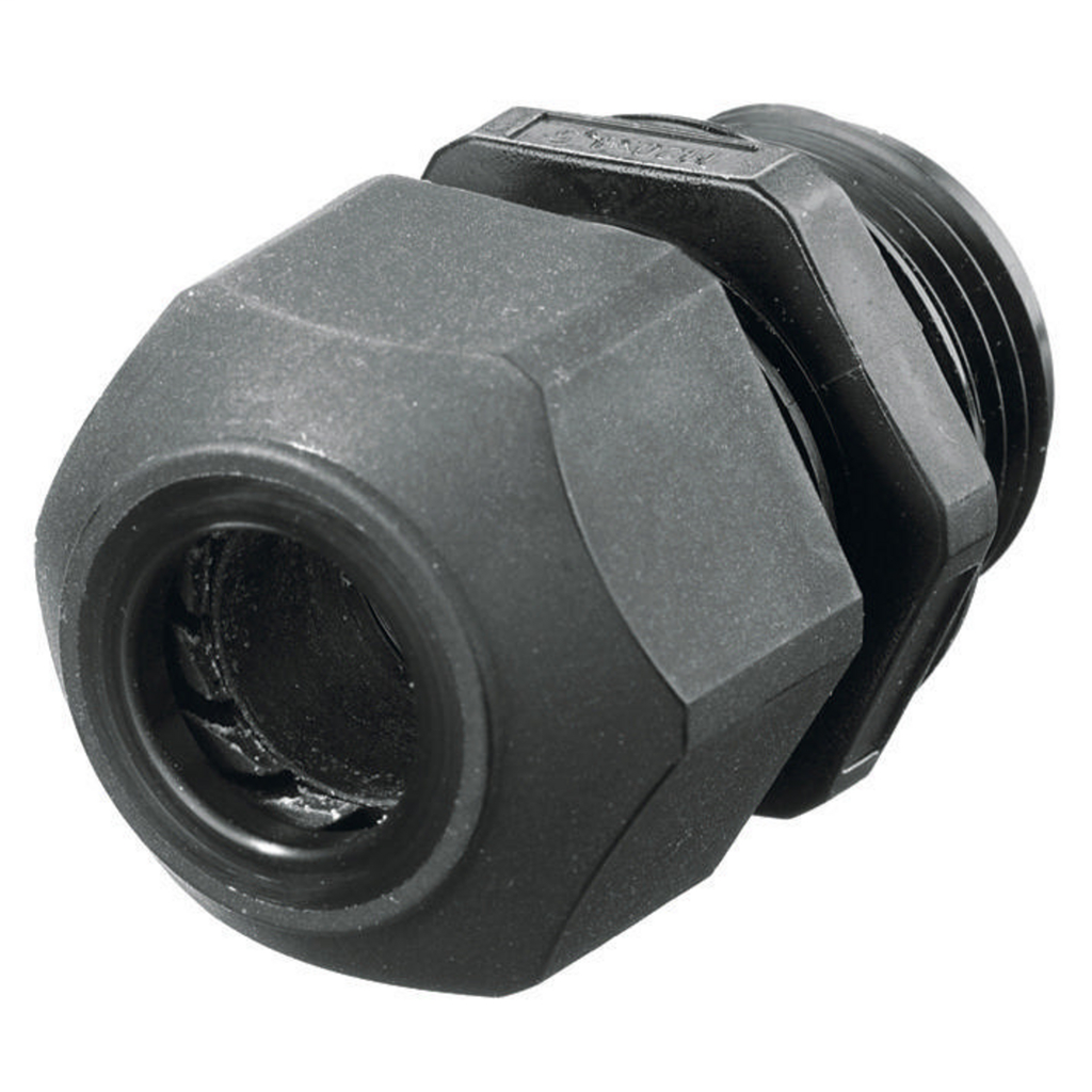 Hubbell Wiring Devices SEC50BA 1/2 Inch Threaded 0.17 to 0.45 Inch Black Non-Metallic Low Profile Cord Connector