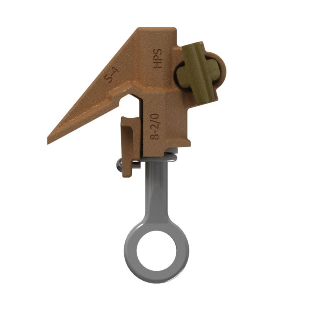 Hubbell Power BC20 2/0 AWG Run/Tap Bronze Overhead Tap Hot Line Clamp