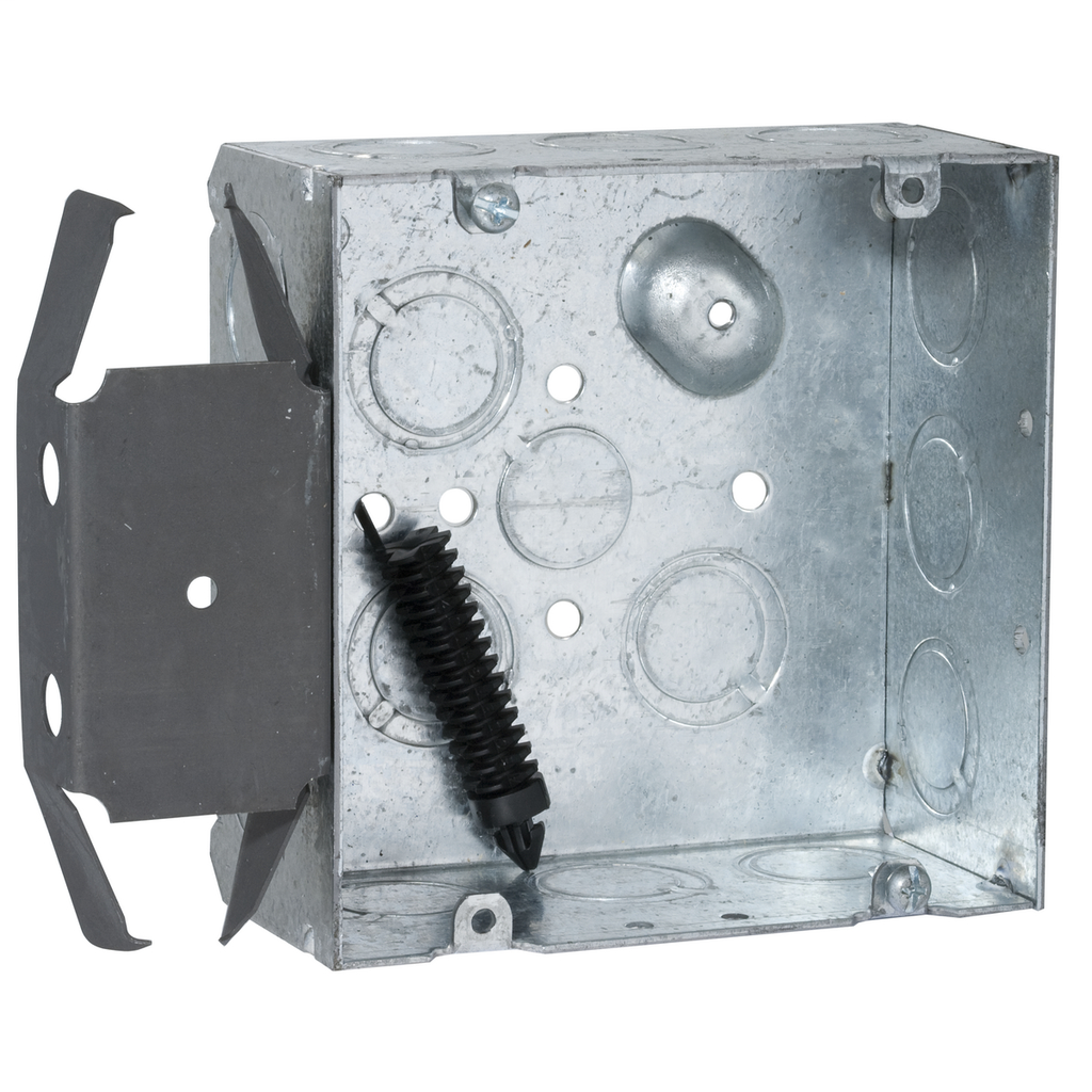RACO 266 4-11/16 x 4-11/16 x 2-1/8 Inch 42 In Pre-Galvanized Steel Raised Ground Mount Welded Square Box