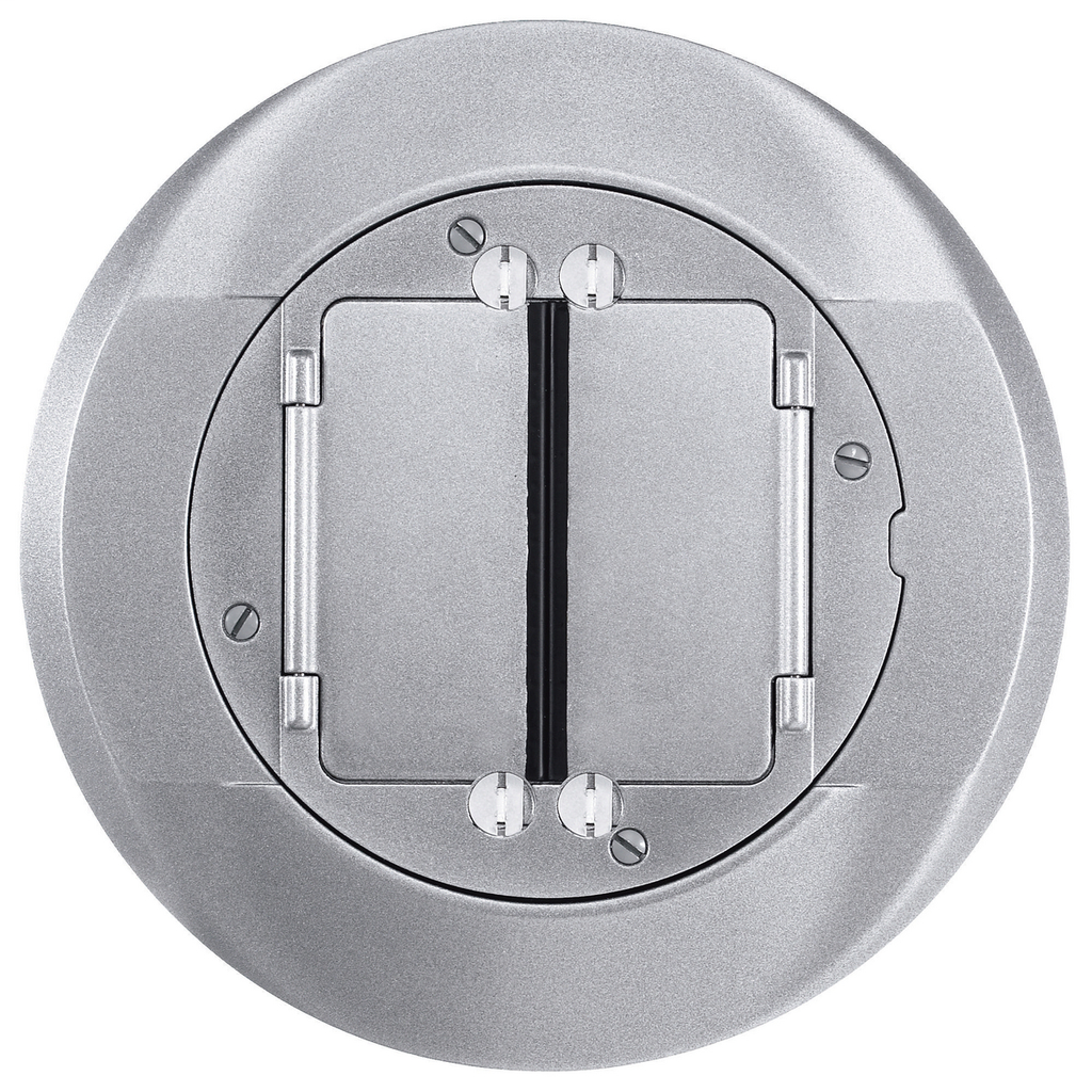 Hubbell Wiring Devices S1CFCAL Cast Aluminum Concrete Floor Fire Rated Poke-Through Universal Carpet Flange and Cover