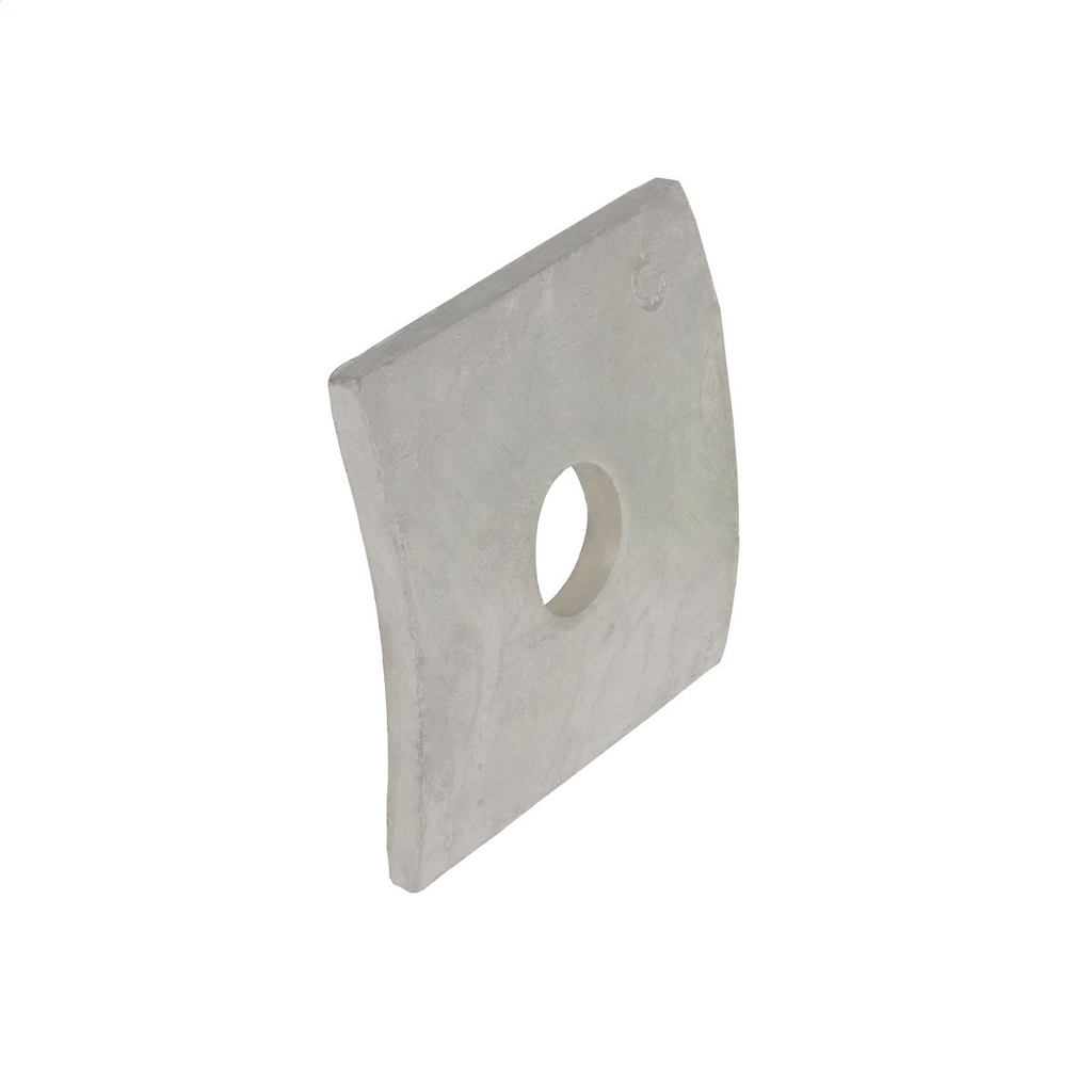 Hubbell Power 682212 3/4 Inch Galvanized Steel Curved Square Washer
