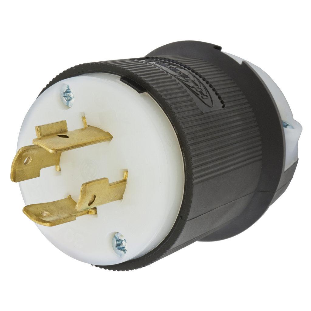 Hubbell Wiring Devices HBL2431 20 Amp 480 Volt 3-Pole 4-Wire NEMA L16-20P Black and White Locking Plug