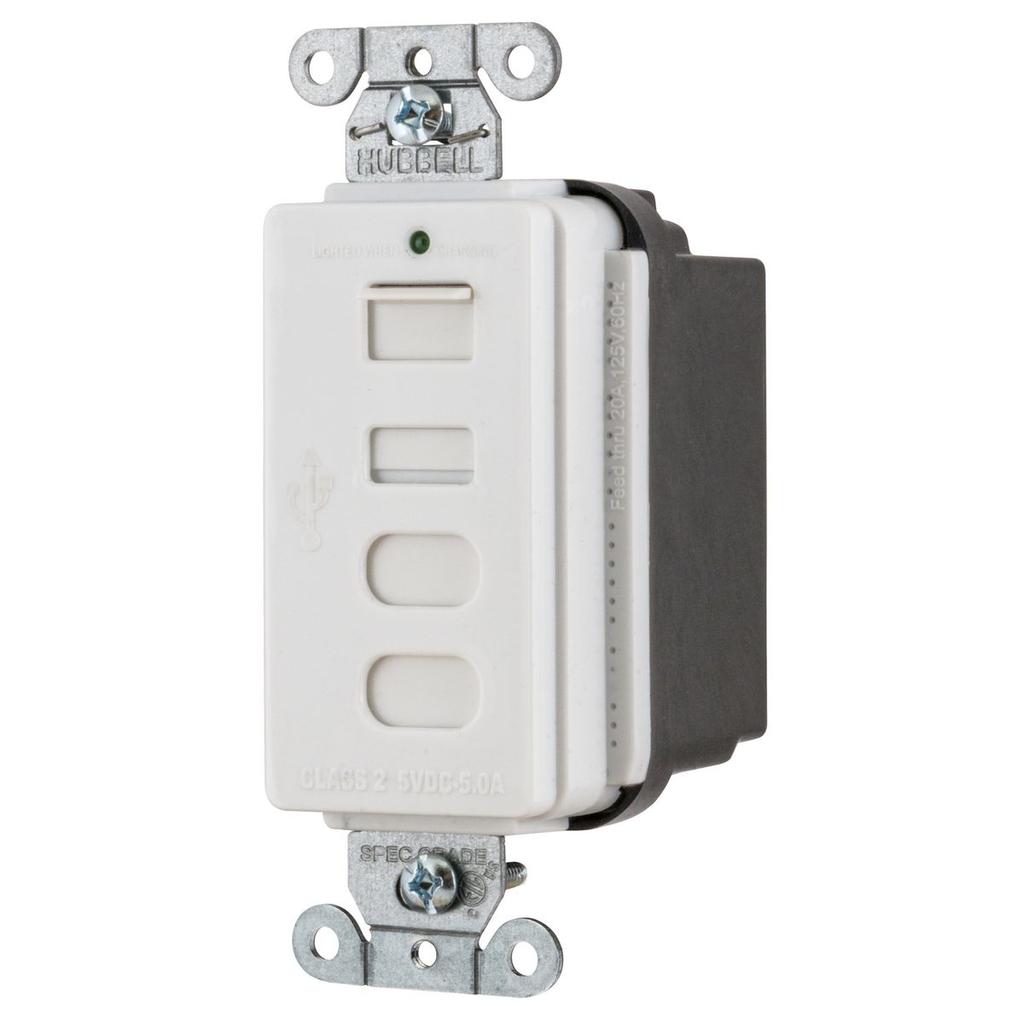 HWDK USB4ACW USB CHRGR 4 PORT 5AMP