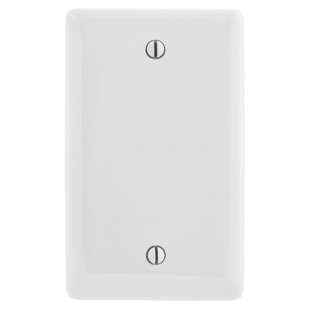 Hubbell Wiring Devices NP13W 1-Gang White Nylon Standard 1-Blank Box Mount Wallplate