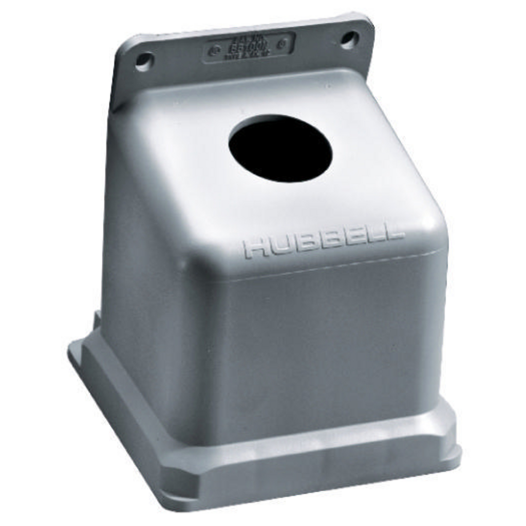 Hubbell Wiring Devices BB100N 1-1/2 Inch Non-Metallic 15 Degrees Watertight IEC Pin and Sleeve Back Box