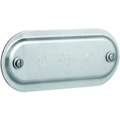 DURALOY 7 SERIES - STAMPED ALUMINUM CONDUIT BODY COVER - HUB SIZE 2 INCH