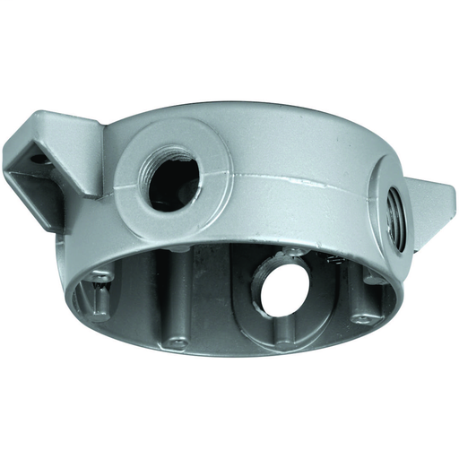 V SERIES - V SPLICE BOX - CEILING MOUNT WITH THREE CLOSE-UP PLUGS - HUBSIZE 3/4 IN