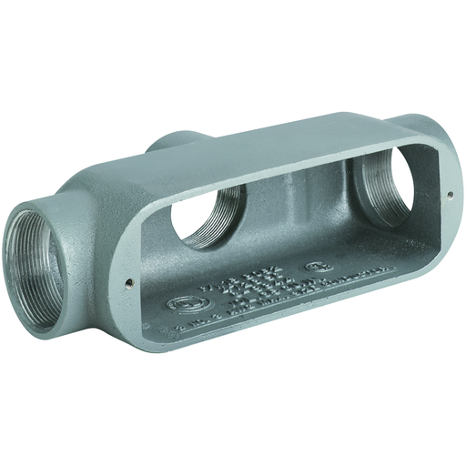 O SERIES/DURALOY 5 SERIES - MALLEABLE IRON CONDUIT BODY - TB TYPE - HUBSIZE 1-1/2 INCH - VOLUME 36.0 CUBIC INCHES