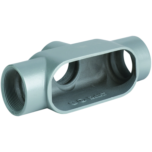 DURALOY 7 SERIES - IRON CONDUIT BODY - TB TYPE - HUB SIZE 1/2 INCH -VOLUME 6.2 CUBIC INCHES