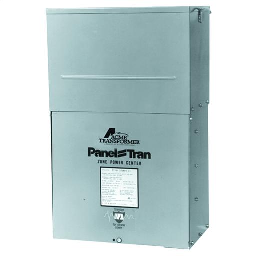 Panel Tran Zone Power Centers - Three Phase, 480Δ - 208Y/120V, 15kVA, Snap In Breakers