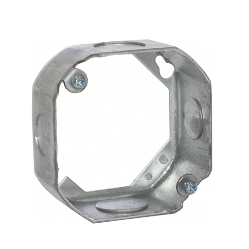 Mayer-4 in. Octagon Extension Ring, Drawn, 1-1/2 in. Deep, Two 1/2 & Two 3/4 in. KO's-1