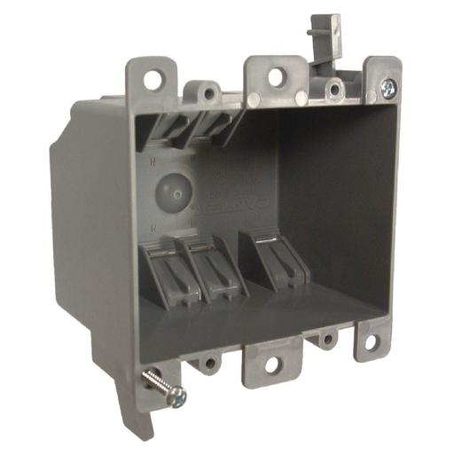 2-Gang Nonmetallic Square Cable Box, 2-3/4 in. Deep