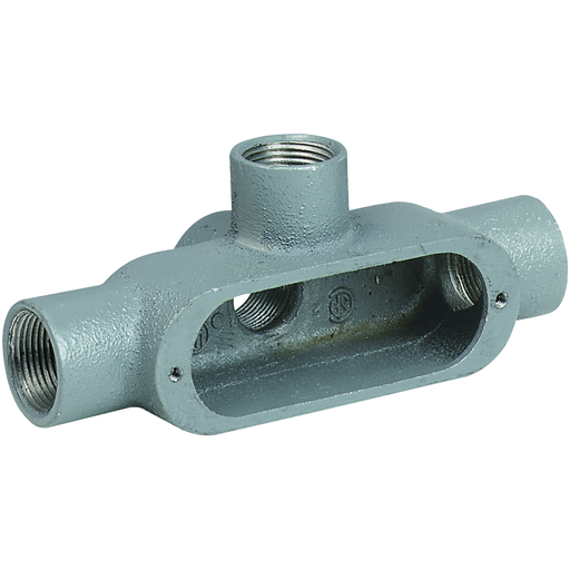 O SERIES/DURALOY 5 SERIES - ALUMINUM CONDUIT BODY - TA TYPE - HUB SIZE3/4 INCH - VOLUME 7.0 CUBIC INCHES