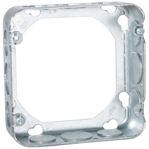 Mayer-4-11/16 in. Square Extension Ring, Drawn, 1-1/2 in. Deep with Eight 1/2 and Four 3/4 in. KO's-1