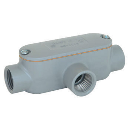 E SERIES - ALUMINUM CONDUIT BODY WITH COVER AND GASKET - T TYPE - HUBSIZE 2-1/2 INCH