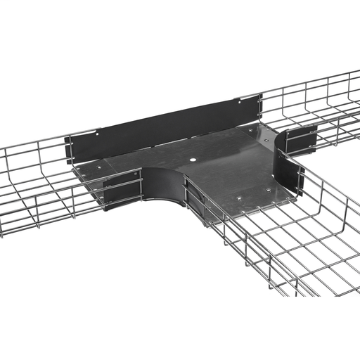 "Wire Basket Tray, Preformed Radius Tee Fitting, 4"" Wide X 12"" High, Pre-Galvanized"