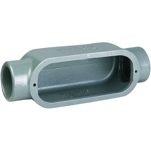 DURALOY 8 SERIES - IRON CONDUIT BODY - C TYPE - HUB SIZE 3/4 INCH -VOLUME 8.0 CUBIC INCHES