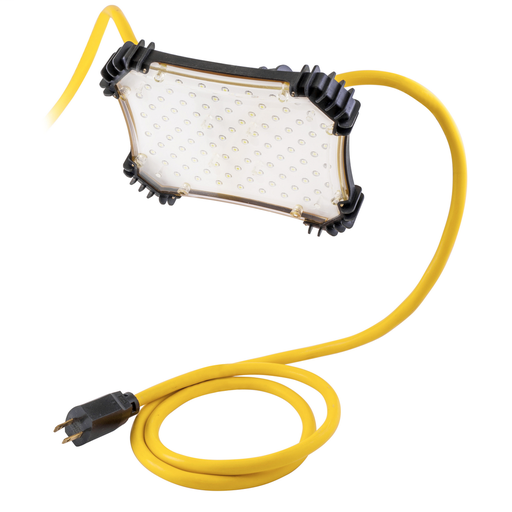 Temporary Lighting Products, 50' 18/2 STW Light String, With 5) 6.6W 90 LED, 450 Lumen Output Per Fixture