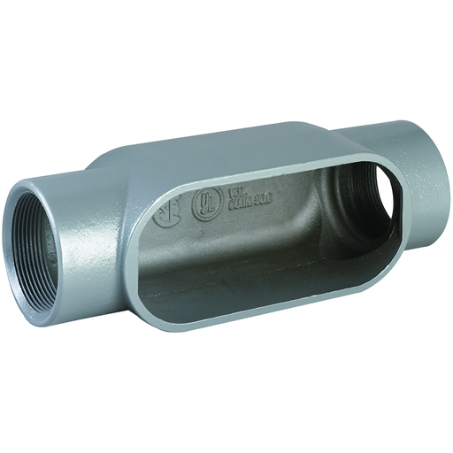 DURALOY 7 SERIES - IRON CONDUIT BODY - C TYPE - HUB SIZE 1-1/4 INCH -VOLUME 19.5 CUBIC INCHES