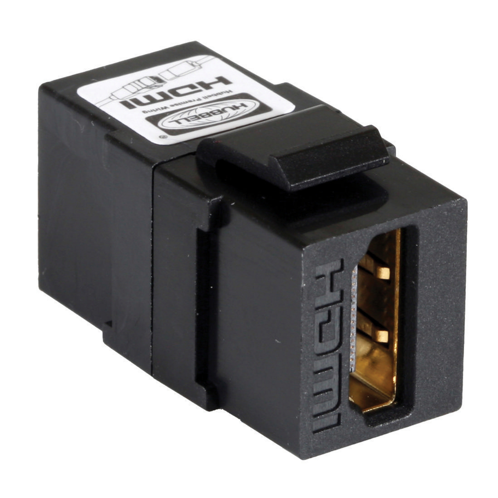 Mayer-HDMI, Keystone, Snap-Fit, ScrewTerminals, 1.4, A/A, Black-1
