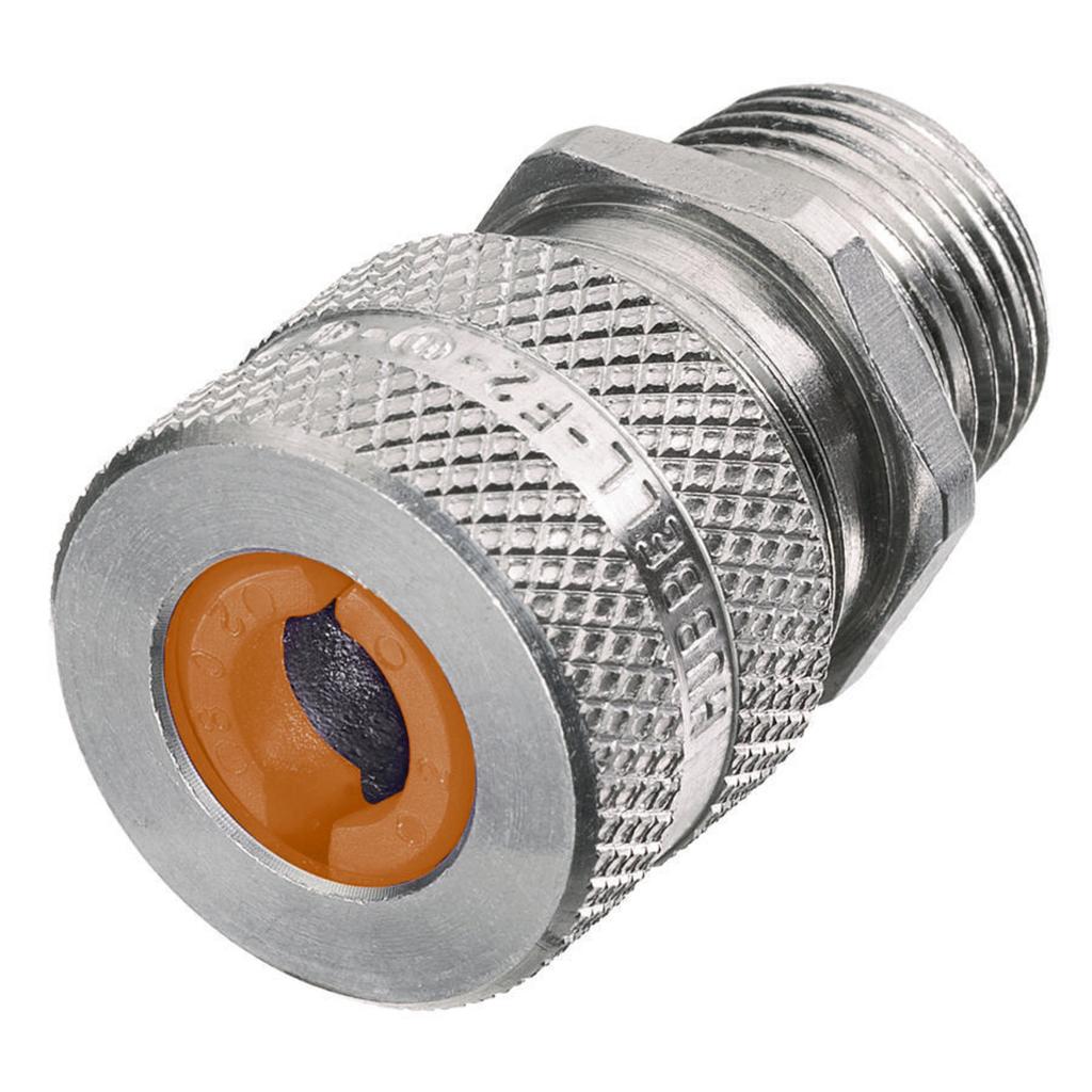 "Mayer-Kellems Wire Management, Cord Connectors, Straight Male, .13-.19"", 1/2"", Aluminum-1"
