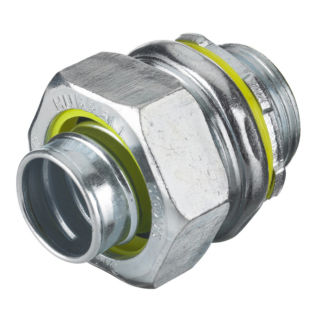 """Mayer-Kellems Wire Management, Liquidtight System, Straight Male Liquid Tight Connector, 1 1/2"""", Steel, Non-Insulated-1"""
