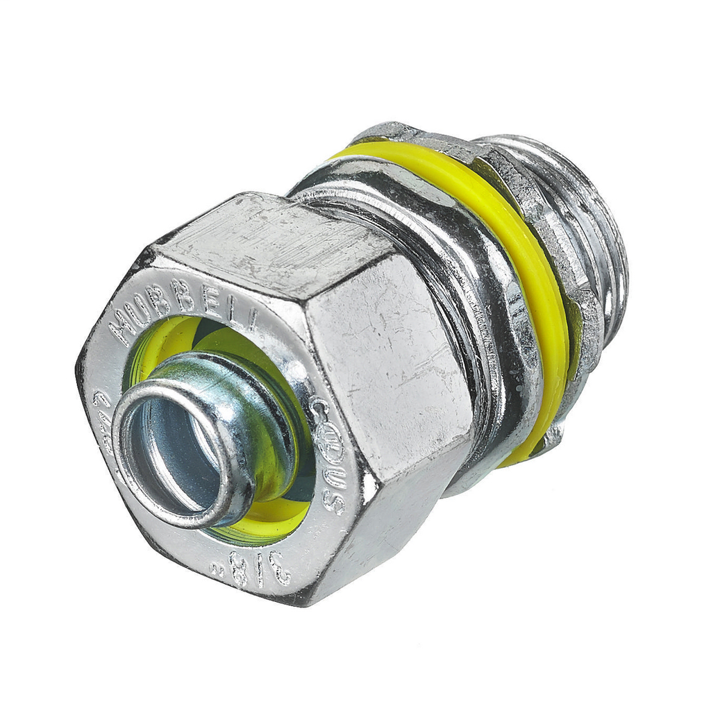 """Mayer-Kellems Wire Management, Liquidtight System, Straight Male Liquid Tight Connector, 3/8"""", Steel, Non-Insulated-1"""