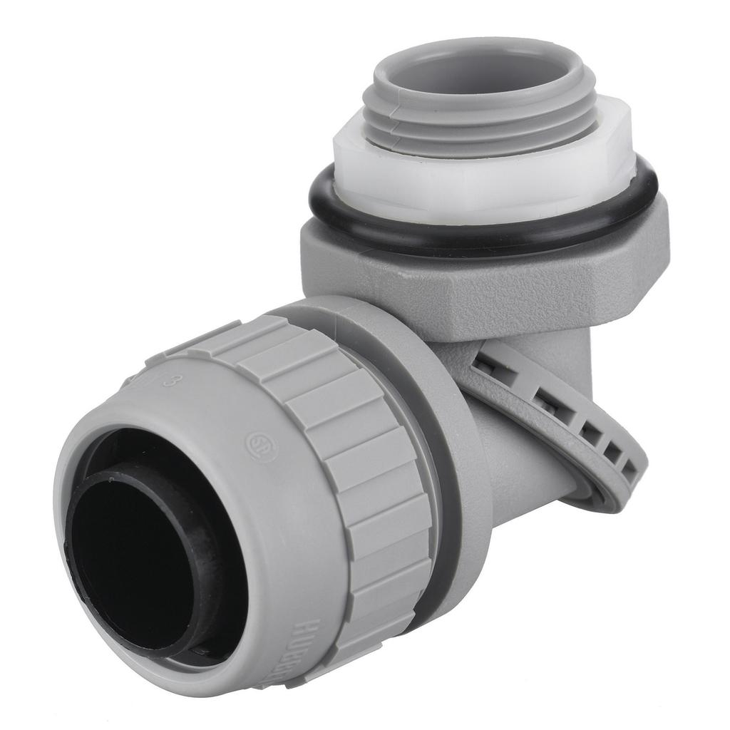 "Mayer-Kellems Wire Management, Liquidtight System, SwivelLok® Multi-Position Male Liquid Tight Connector, 3/4"", Non-Metallic, Gray-1"