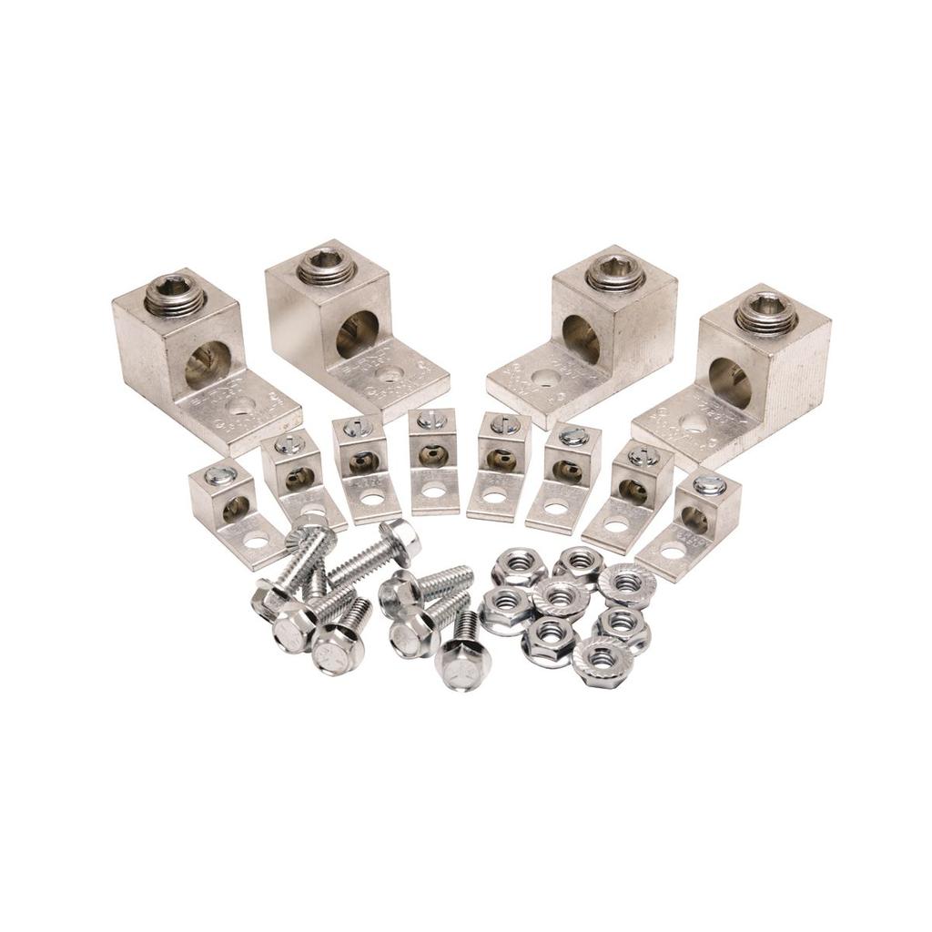Mayer-High Strength Aluminium Alloy Tranformer Lug Kit, #14 - 2, #6 - 250 kcmil, Tin-Plated-1