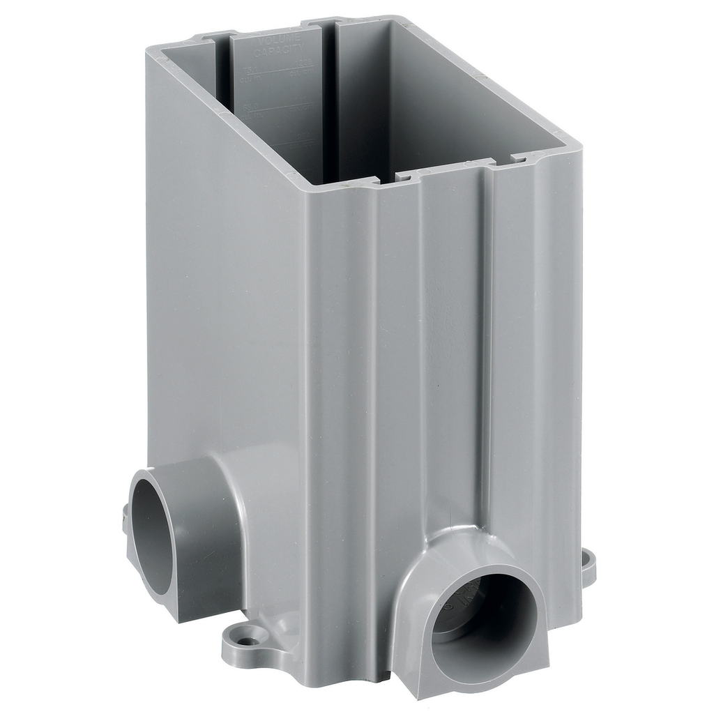 "Mayer-1-Gang Rectangular PVC Box, 3.00"" Minimum Depth of Pour-1"