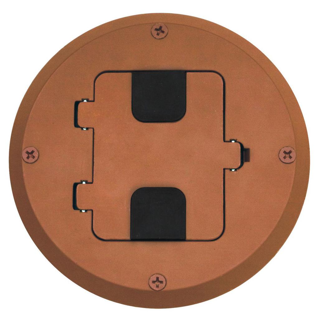 Mayer-Floor and Wall Boxes, Residential Floor Box Kit, Woor Floor Type, 1-Gang, Brown-1
