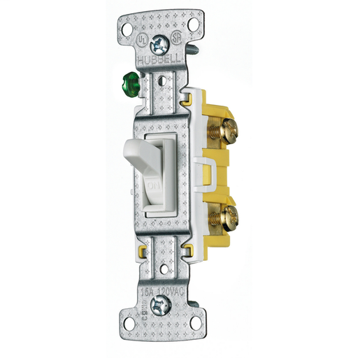 Mayer-TradeSelect, Switches and Lighting Controls, Residential Grade, Toggle Switches, Single Pole, 15A 120V AC, White-1