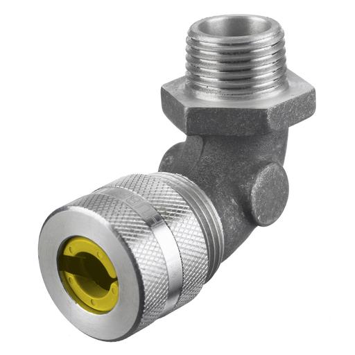 """Mayer-Kellems Wire Management, Cord Connectors, 90 Degree Male .63-.75"""", 3/4"""", Aluminum-1"""