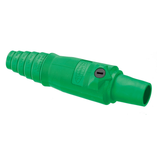Mayer-Heavy Duty Products, Single Pole Devices, Industrial Grade, Female, Plug, 400A 600V AC/DC, Single Conductor, Double Set Screws, Green-1
