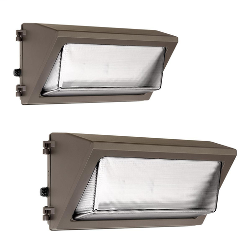 Mayer-WGH1/WGH2/WGH3 Glass Refractor Wallpacks - Switchable wattage and color temperature technology-1