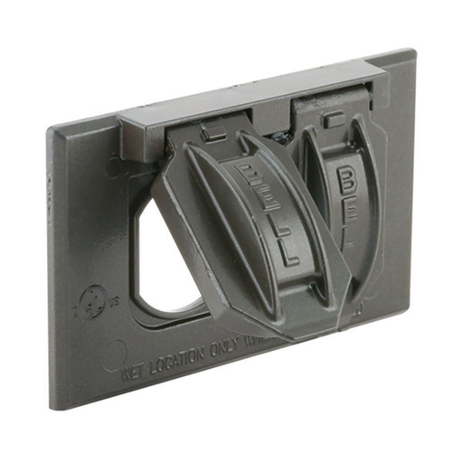 1-Gang Horizontal Weatherproof Cover, Duplex, Bronze, Carded redirect to product page