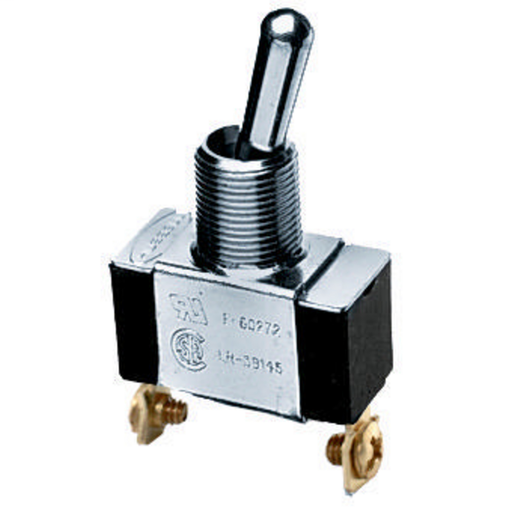 Mayer-Switches and Lighting Controls, Commercial Grade, Panel Mount and Specialty Switches, Bat Handle Switches, Single Pole Single Throw, 10A 250V/10A 125V, Terminal Screws,-1