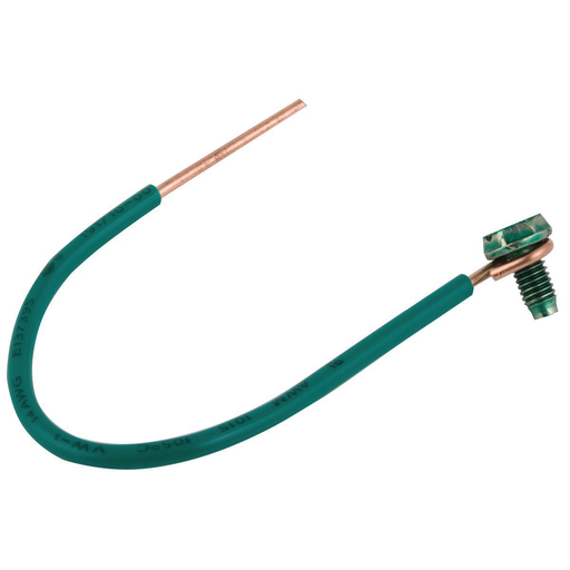 #14 Solid Insulated Copper Wire Pigtail, 6 in. Length (25/BE)