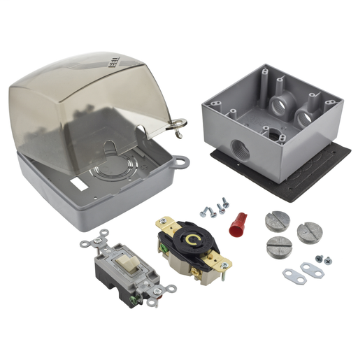 Mayer-Locking Devices, Pool Pump Kit, 20A 125V, 2-Pole 3-Wire Grounding, L5-20-1