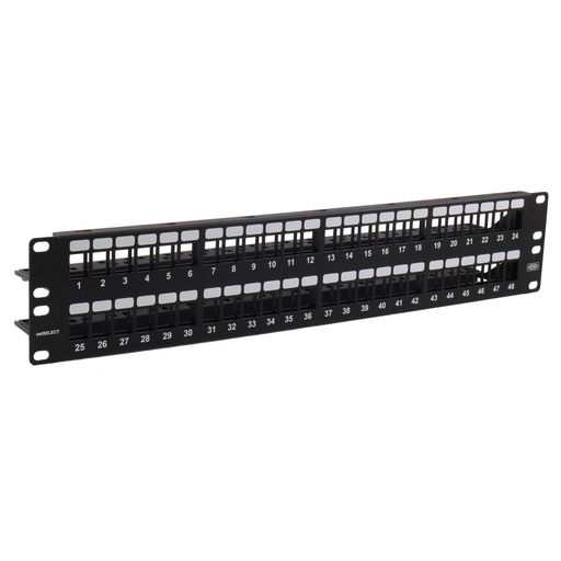 """Mayer-Copper Solutions, Patch Panel,Unloaded, NetSelect, 48-Pair, 19"""" Width X 3.5"""" Height-1"""