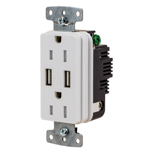 Mayer-USB Charger Duplex Receptacle, 15A 125V,2-Pole 3-Wire Grounding-1