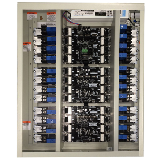Mayer-CX Lighting Control Panel, Number of Panel Spaces: 4, Number of Relays: 4, Relay Type: 20A 1-Pole Electrically HeldN.O. 120-277V 14KSCCR @ 277VAC, Voltage Rating: 120-277 V, Enclosure Type: NEMA 1 Surface, Options: Stand Alone.-1