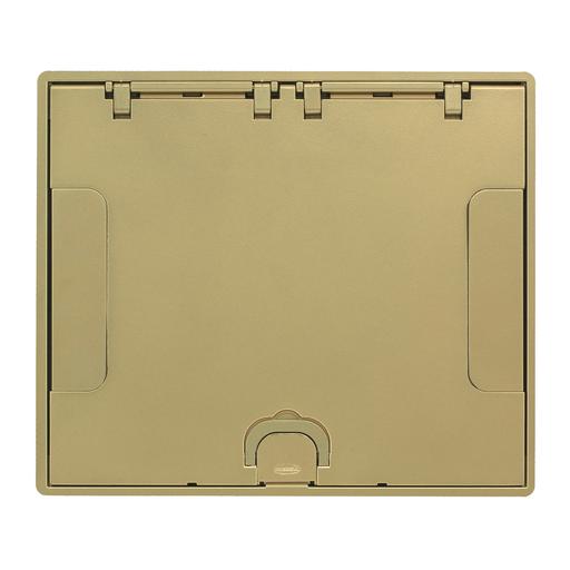 CFB6G & CFB10G Rectangular Series, Flush Cover Assembly, Brass Powder Paint Finish