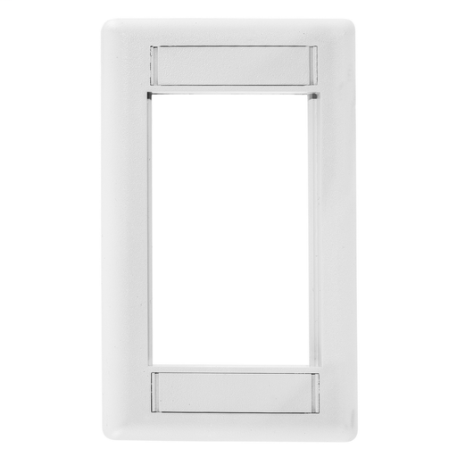 Mayer-Phone/Data/Multimedia Component, INFINe Station Modular Plate Frame, 1-Gang, White-1