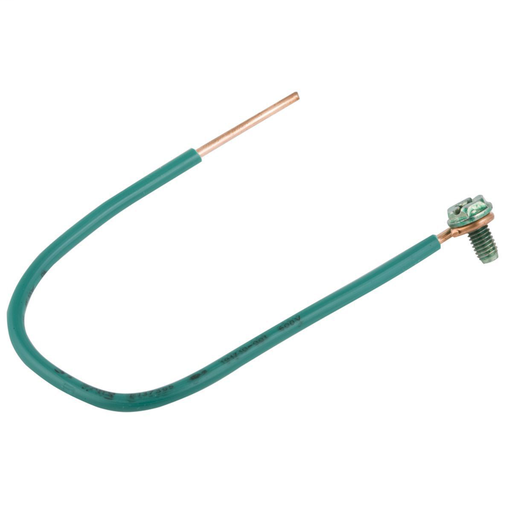 #12 Stranded Insulated Copper Wire Pigtail, 8 in. Length (25/BE)