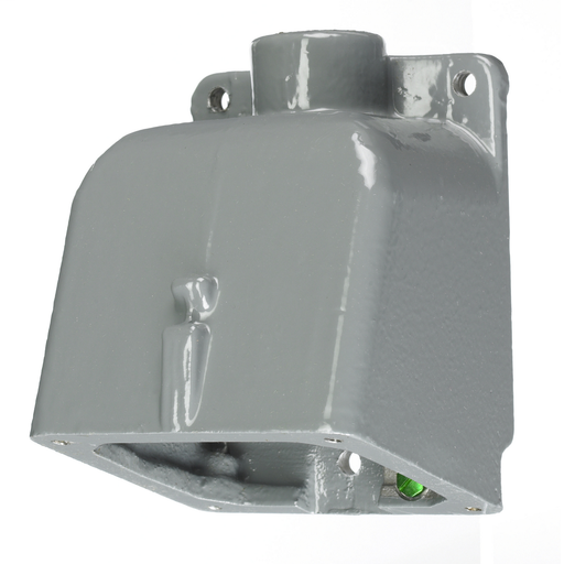 """Mayer-Heavy Duty Products, IEC Pin and Sleeve Devices, Industrial Grade, Accessory, Back Box, For 20A and 30A 3/4""""NPT Hub, Angled, Mounting Screws Included, Gray Cast Aluminum-1"""