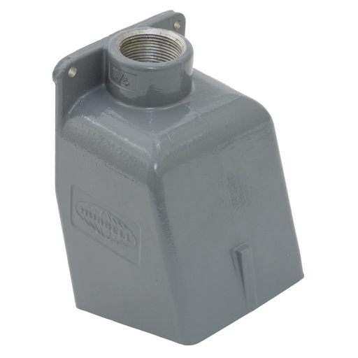 """Mayer-Heavy Duty Products, IEC Pin and Sleeve Devices, Industrial Grade, Accessory, Back Box, For 60A 1 1/4"""" NPT Hub, Angled, Mounting ScrewsIncluded, Gray Cast Aluminum-1"""